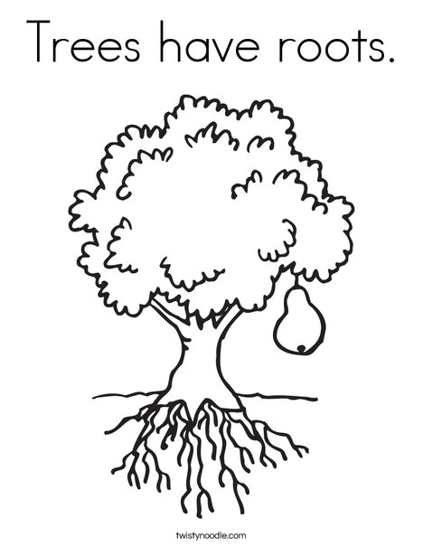 Trees have roots Coloring Page - Twisty Noodle