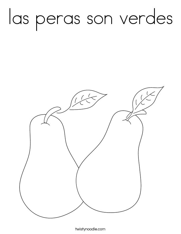 las peras son verdes Coloring Page