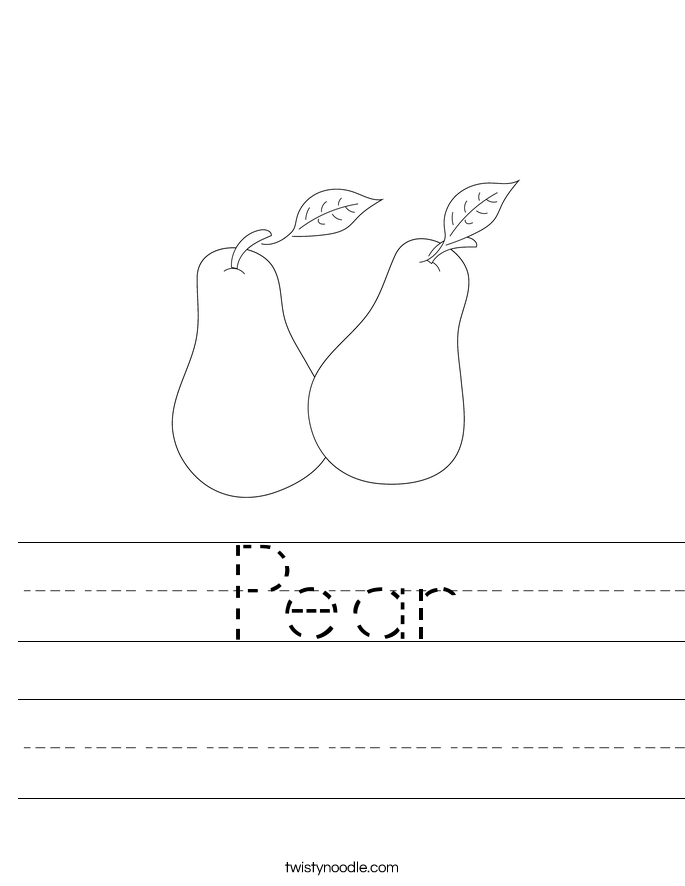 Pear Worksheet