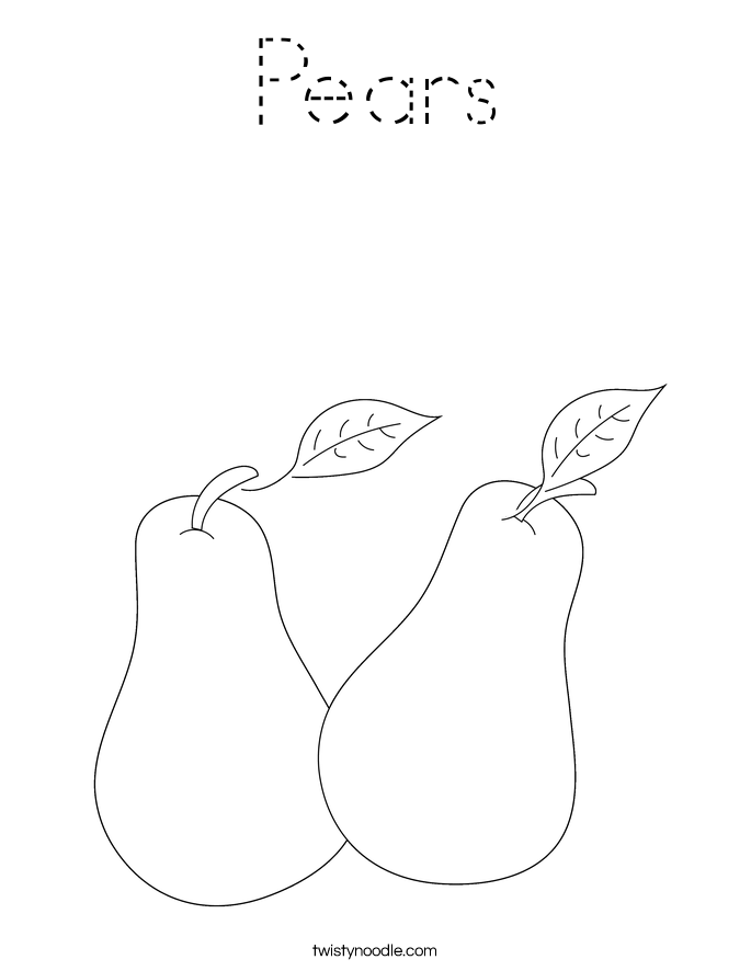 Pears Coloring Page