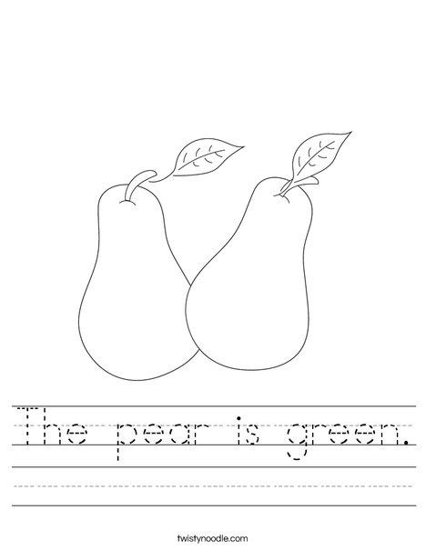Pears Worksheet