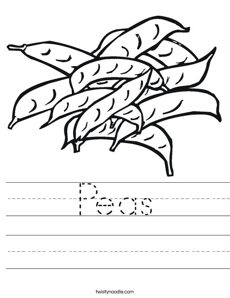 Peas Worksheet