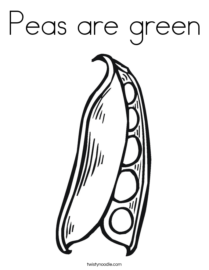 Peas are green Coloring Page