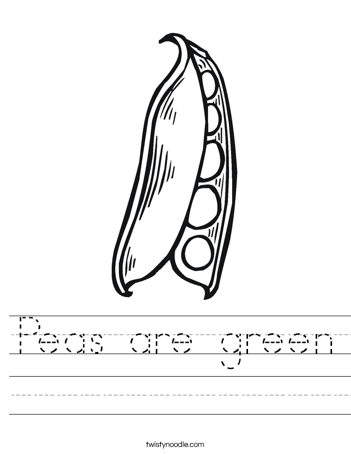Peas are green Worksheet