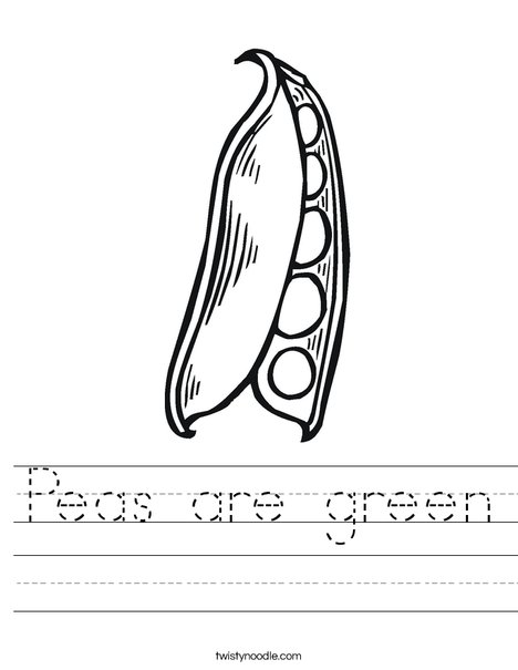 Peas in a Pod Worksheet