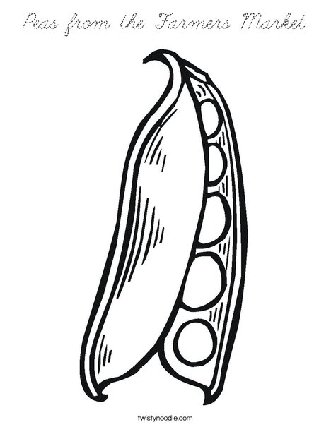 Peas in a Pod Coloring Page