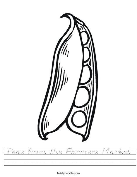 Peas in a Pod Worksheet