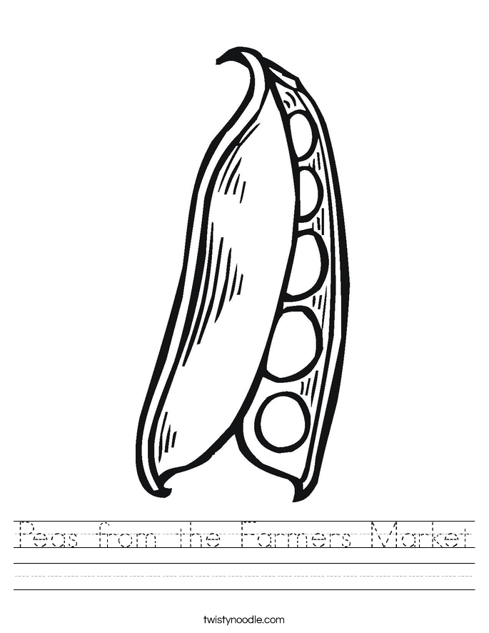 Peas from the Farmers Market Worksheet