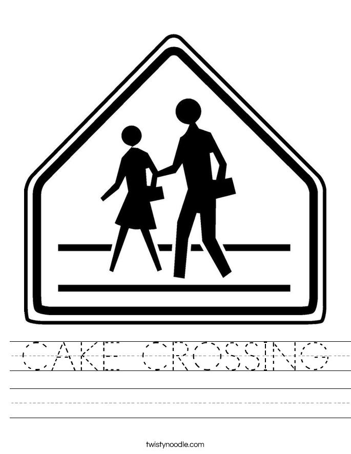 CAKE CROSSING Worksheet