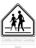 Caution School Crossing Worksheet