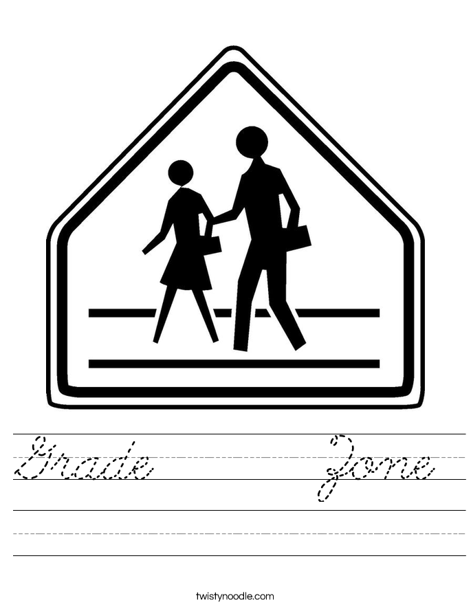 Grade      Zone Worksheet
