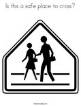 Is this a safe place to cross?Coloring Page
