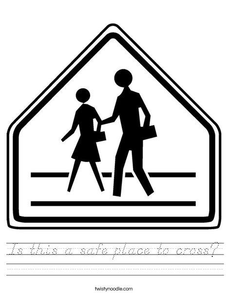 Pedestrian Crossing Worksheet