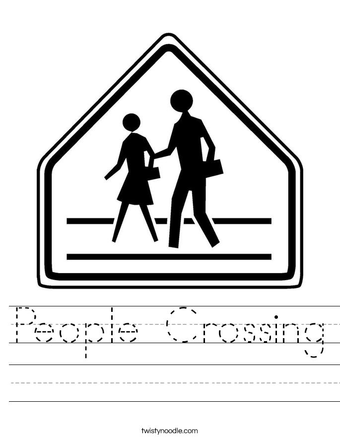 People Crossing Worksheet