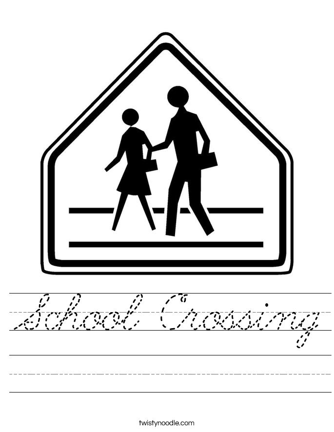 School Crossing Worksheet