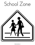 School Zone Coloring Page