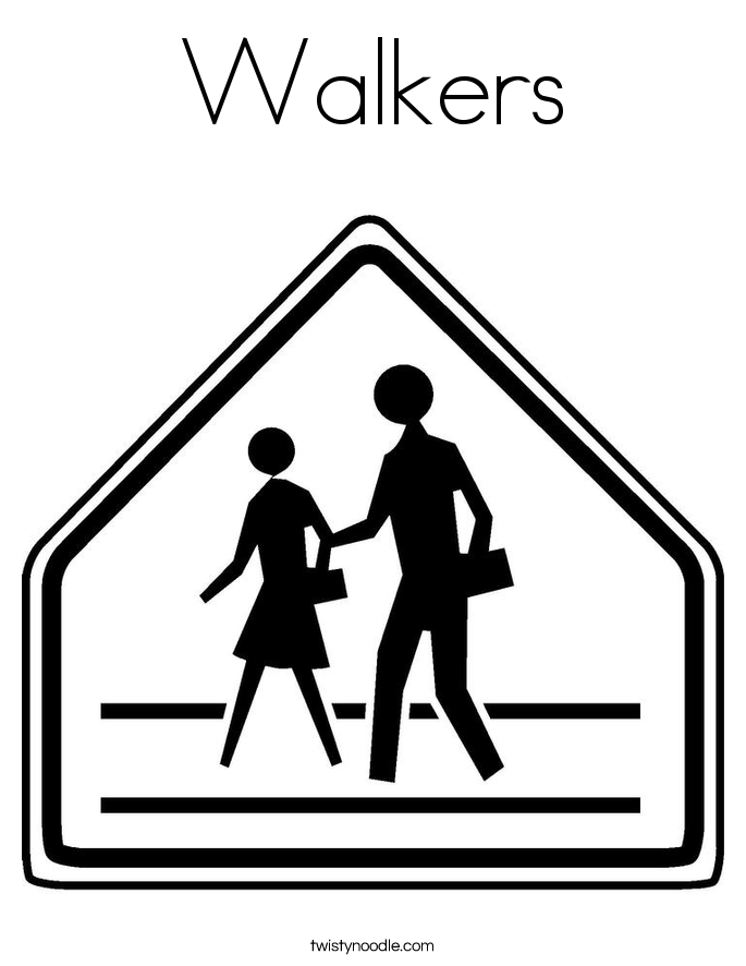 Walkers Coloring Page