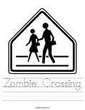 Zombie Crossing Worksheet