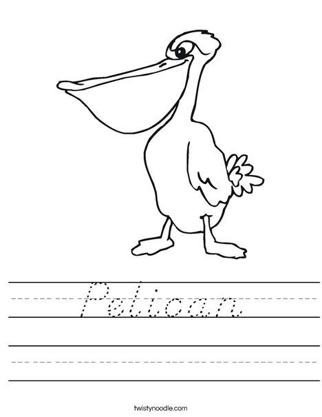 Pelican Worksheet