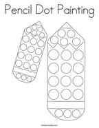 Pencil Dot Painting Coloring Page