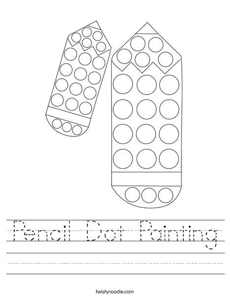 Pencil Dot Painting Worksheet