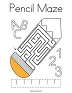 Pencil Maze Coloring Page