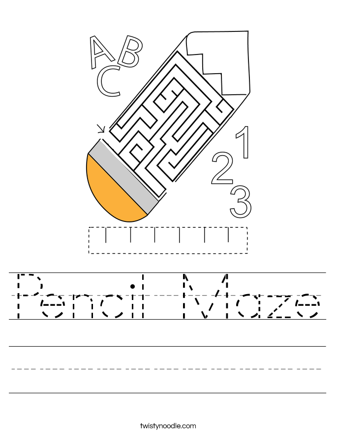 Pencil Maze Worksheet