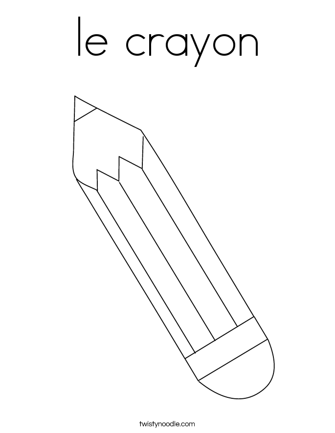 le crayon Coloring Page  Twisty Noodle