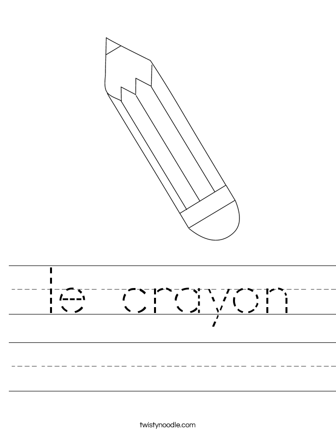 le crayon Worksheet