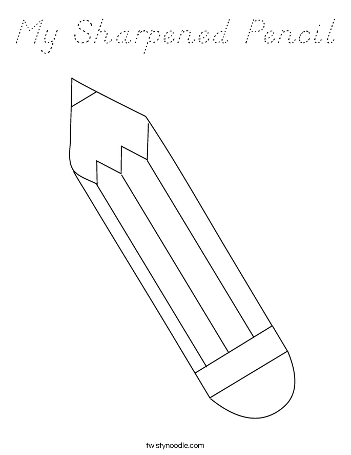 My Sharpened Pencil Coloring Page