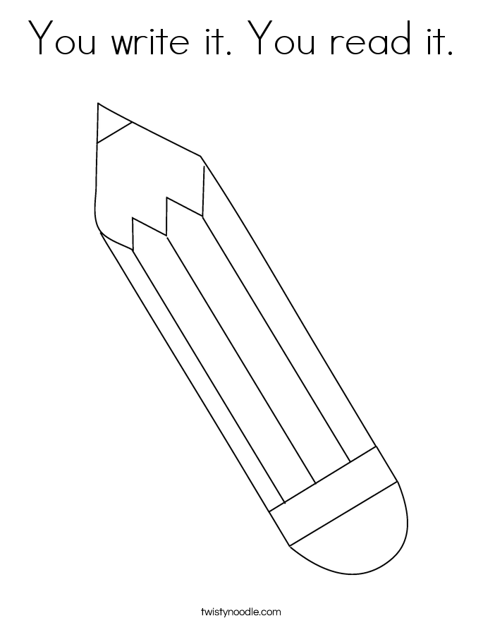 You write it. You read it. Coloring Page