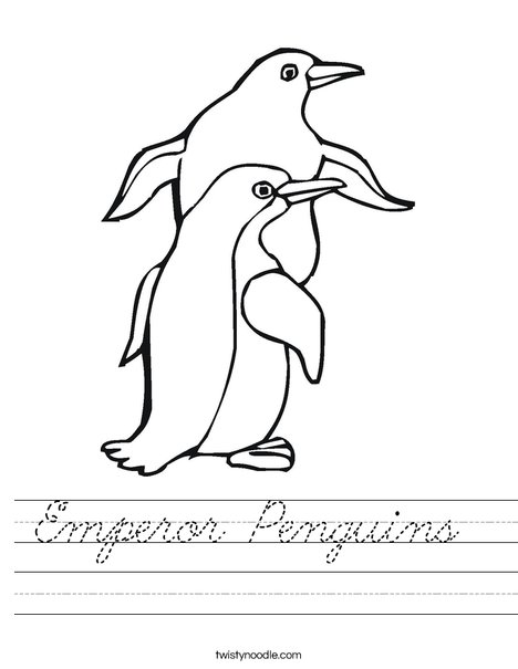 Two Penguin Worksheet