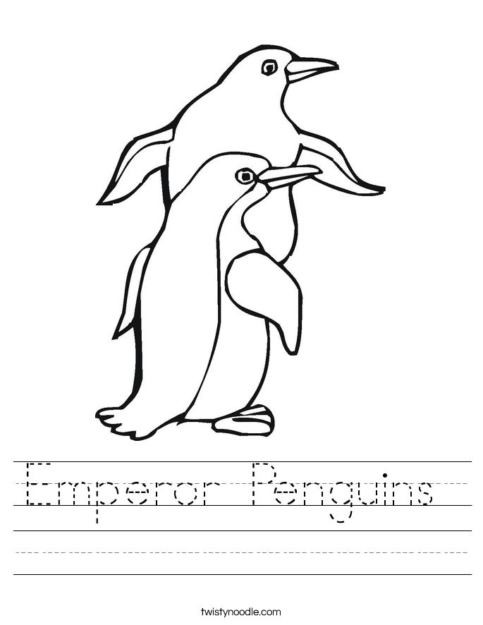 Penguin Pre-writing Worksheet | Writing worksheets, Worksheets and ...