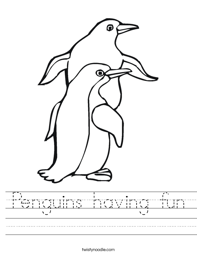 Penguins having fun Worksheet
