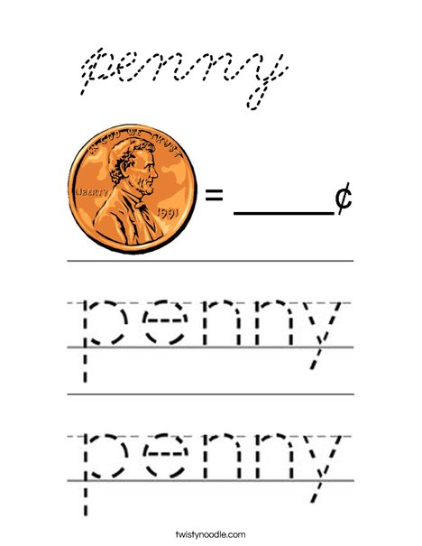 penny Coloring Page