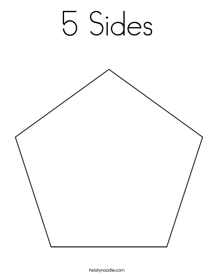 5 Sides Coloring Page