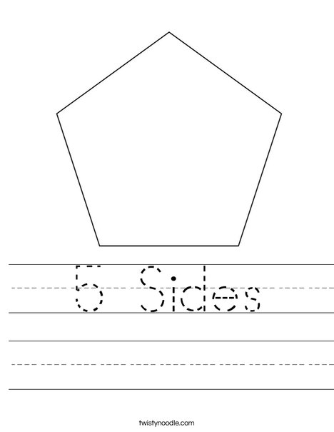 5 Sides Worksheet - Twisty Noodle