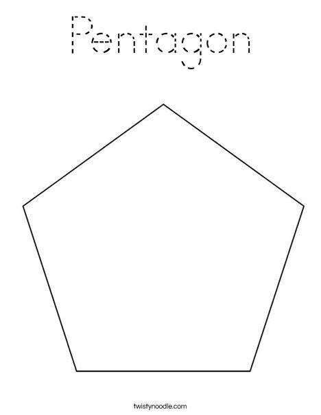Pentagon Coloring Page
