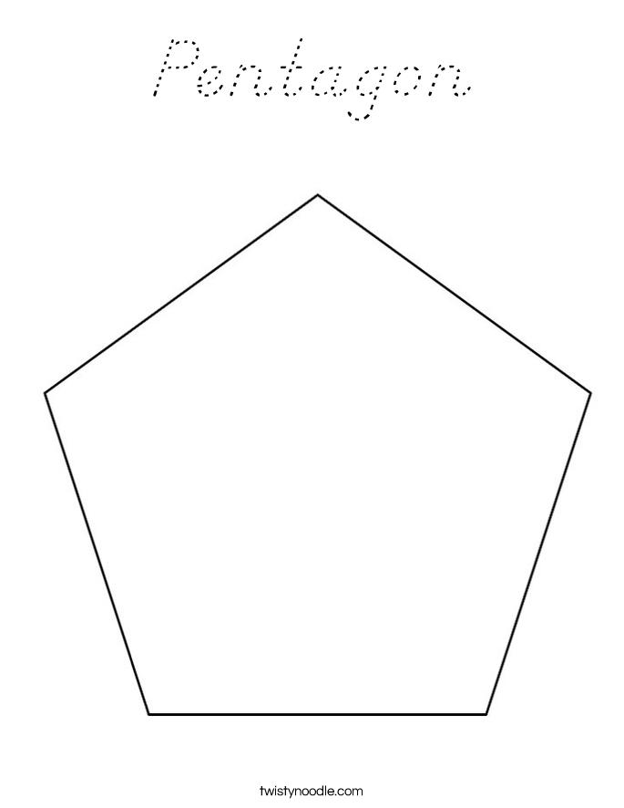 pentagon coloring page dnealian twisty noodle