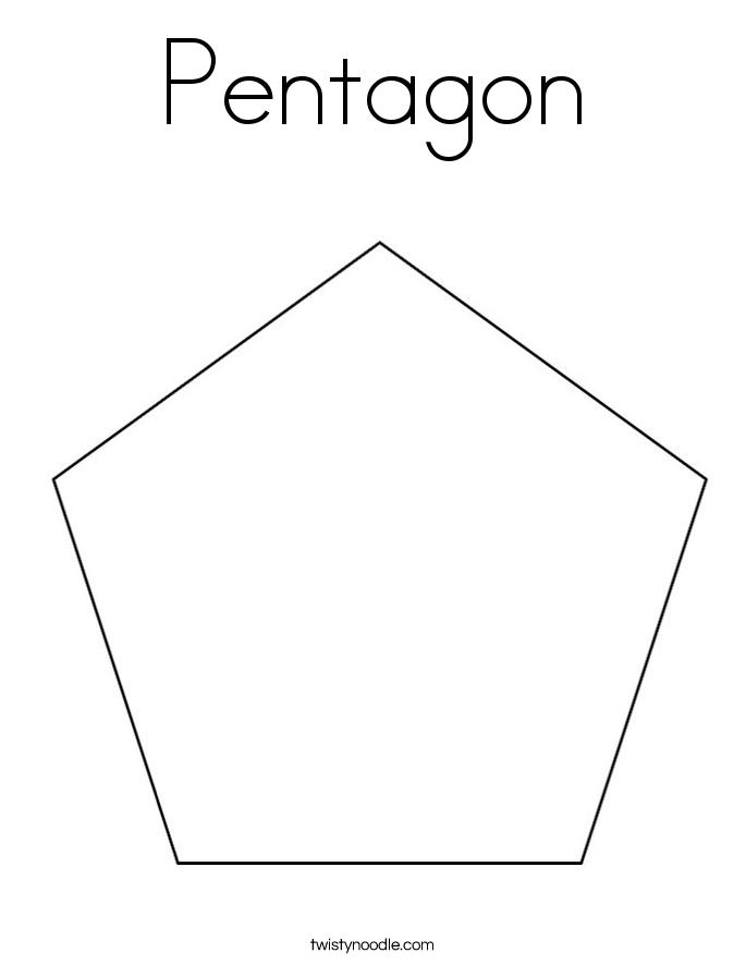 Pentagon Coloring Page - Twisty Noodle