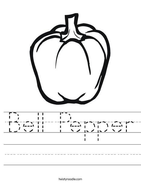 Pepper Worksheet