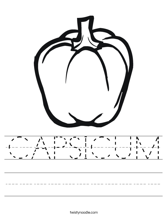 CAPSICUM Worksheet