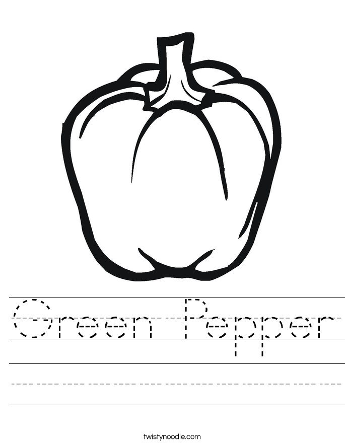 Green Pepper Worksheet