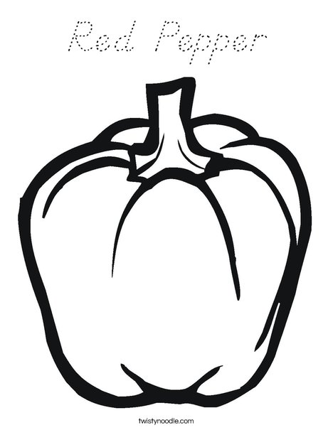 Pepper Coloring Page