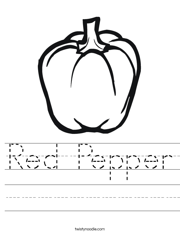 Red Pepper Worksheet