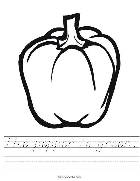 Pepper Worksheet