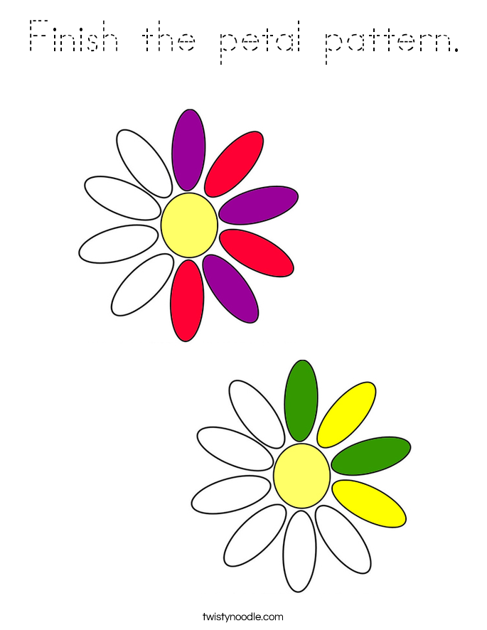 Finish the petal pattern. Coloring Page