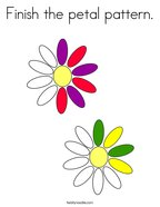 Finish the petal pattern Coloring Page