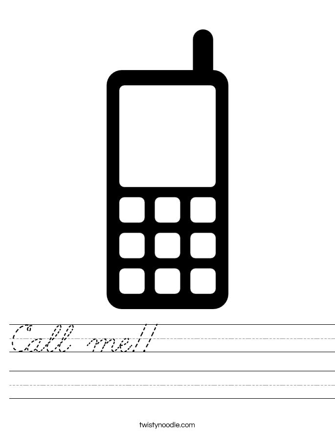 Call me!!           Worksheet