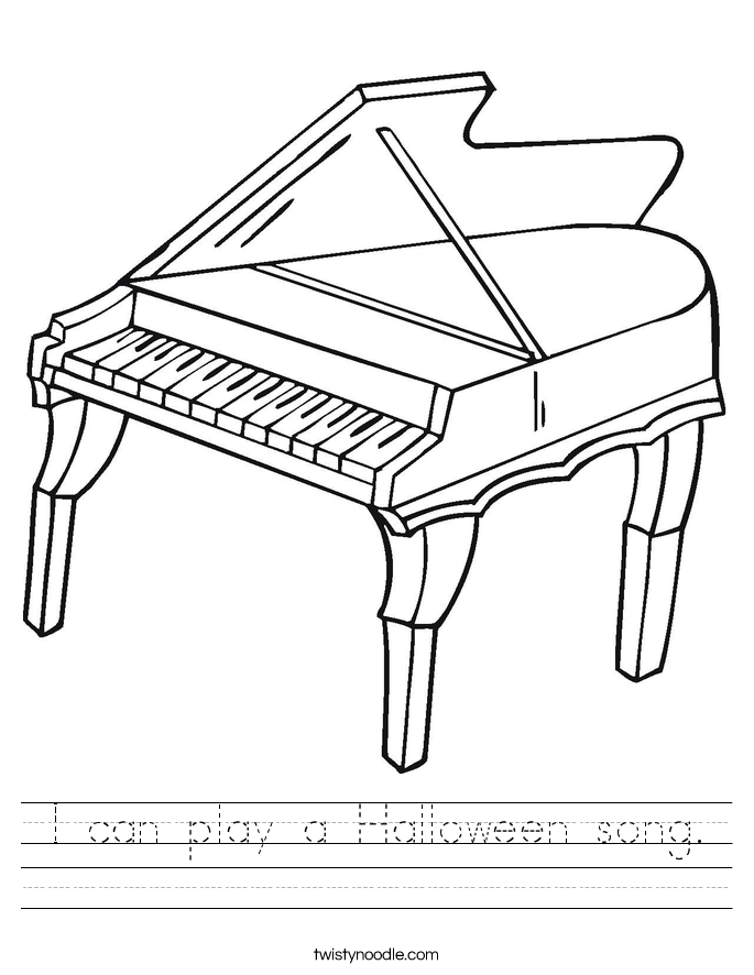 I can play a Halloween song. Worksheet